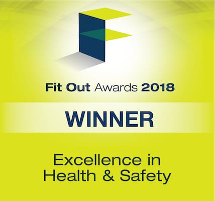 Fit Out Awards 2018 winner in Excellence in health and safety