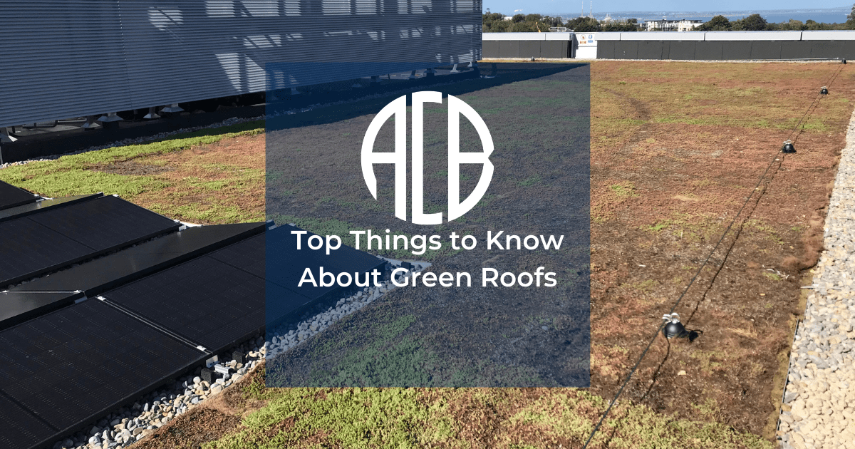 Green Roof over layed with article title