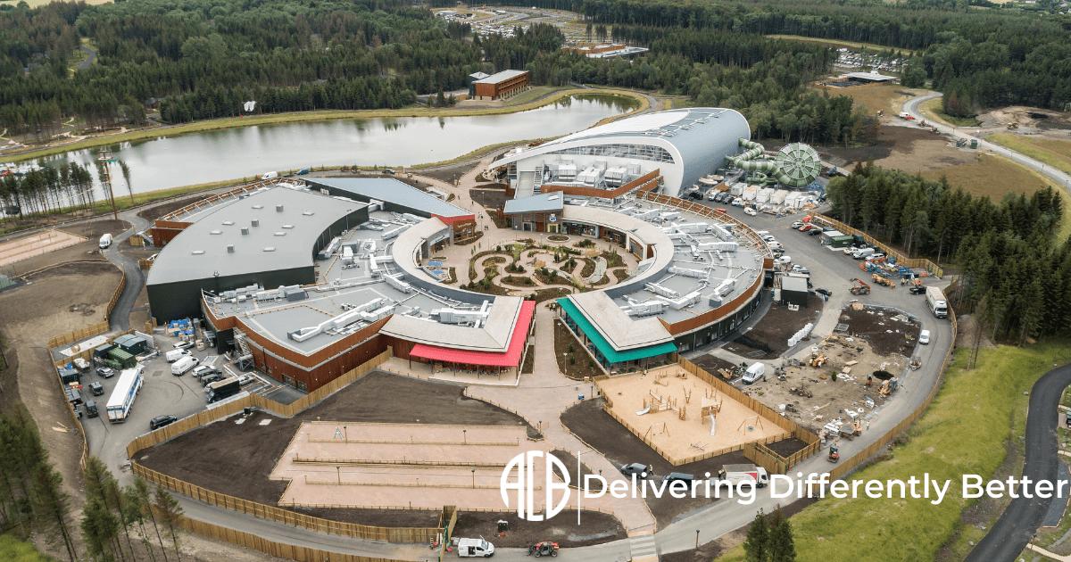 Aerial View of Center Parcs Longford